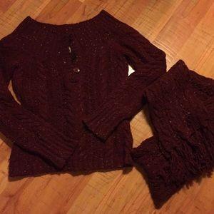 American Eagle Sweater & Scarf
